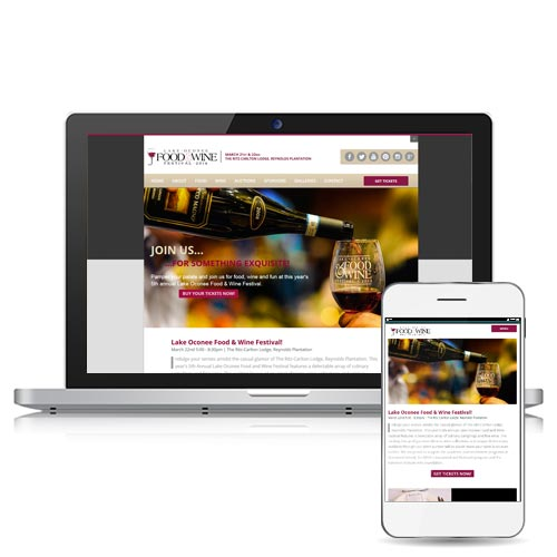 Mobile friendly website design by Bond Creative Group.