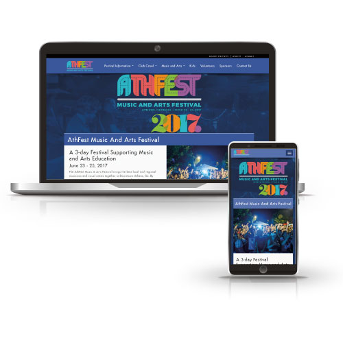 Event website design with customized scheduling.